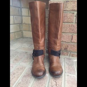 Brown Leather Boots, 8.5